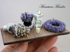 Miniature Dollhouse Lavender Decoration Set Board by Minicler