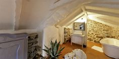 Cute white bathroom!    Stone Cottages Hvar, Hvar, Croatia Hotel Reviews | i-escape.com