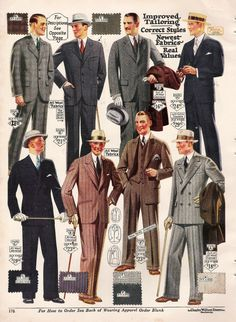 Get dressed in 1920s fashion for men. Suits, hats, shoes, ties, shirts and more. You can make a 1920s style mens outfit with new clothes.