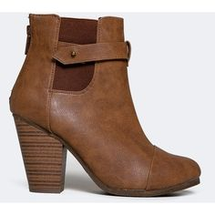 GAIL-23 BOOTIE ($35) ❤ liked on Polyvore featuring shoes, boots, ankle booties, tan, western boots, ankle cowgirl boots, ankle boots, tan cowboy boots and tan ankle booties