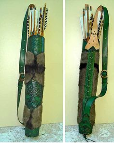 Tooled Archery Quiver Leather & Hide by MadeOfLeather on Etsy, $190.00