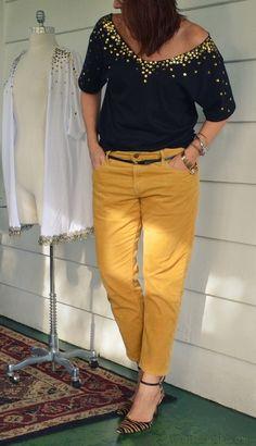 WobiSobi: Gold and Black, Sequin Shirt DIY