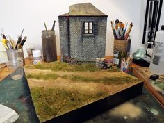 """French Farm"" 1/35 scale Diorama base by Terence Young"