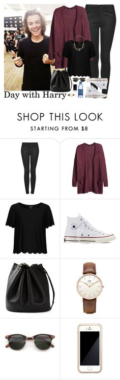 """Day with Harry"" by stellasmathio ❤ liked on Polyvore featuring Topshop, H&M, Converse, Hermès, Squair and Wallis"