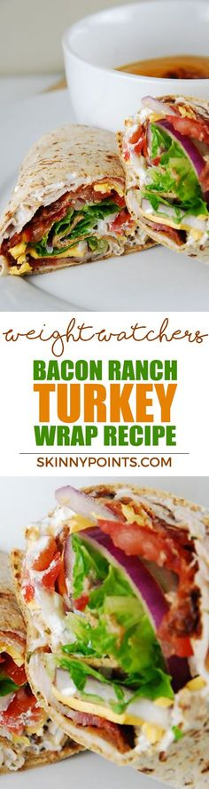 The Big Diabetes Lie- Recipes-Diet - Bacon Ranch Turkey Wrap Recipe - Come with 7 weight watchers smart points - Doctors at the International Council for Truth in Medicine are revealing the truth about diabetes that has been suppressed for over 21 years. Weight Watcher Dinners, Weight Watchers Lunches, Plats Weight Watchers, Weight Watchers Smart Points, Weight Watchers Food, Ww Recipes, Lunch Recipes, Cooking Recipes, Healthy Recipes