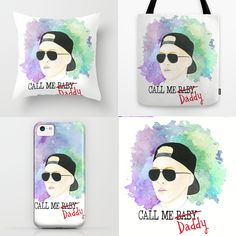 call me daddy #exo #callmebaby #exodus #watercolor #xiumin #minseok #kpop #society6 by Katka Tekel