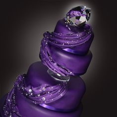 This page is dedicated to purple wedding cakes. Browse through hundreds of purple wedding cakes in order to gain inspiration for your special day. Purple Cakes, Purple Wedding Cakes, Beautiful Wedding Cakes, Gorgeous Cakes, Royal Purple Wedding, Striped Wedding, Crazy Cakes, Fancy Cakes, Cute Cakes