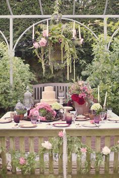 This table. - Secret Garden Wedding inspiration, Claire Pettibone, C Wedding Reception Centerpieces, Wedding Themes, Wedding Table, Wedding Decorations, Wedding Ideas, Table Decorations, Claire Pettibone, Tipi Wedding Inspiration, Garden Inspiration