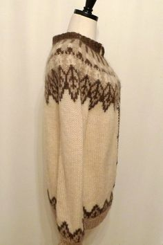 Vintage Fair Isle Cardigan / Nordic Wool Sweater / by BibbysRocket
