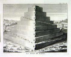 La Tour de Babel           Tower of Babel Historie Universelle  du Monde     Publ: Arkstee et Merkus   1747
