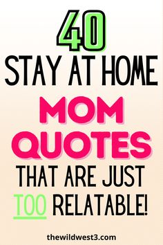 Being a Stay at Home Mom is a job like no other. These quotes about stay at home motherhood are funny, sincere, and all too relatable. So check out these SAHM quotes that will have you nodding your head in agreement! Parenting Quotes, Kids And Parenting, Parenting Hacks, Mom Jokes, Mom Humor, Stay At Home Mom Quotes, Heart Warming Quotes, Mom Schedule, Peaceful Parenting