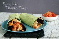 Spicy Thai Chicken Wraps - Busy Mom's Helper