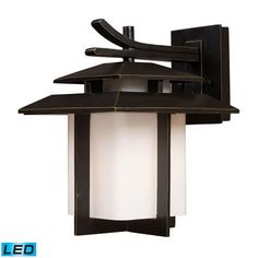 42171/1-LED | Kanso 1 Light Outdoor LED Sconce In Hazelnut Bronze - 42171/1-LED