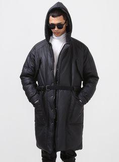 Oversized Kane Techno-fabric Padded Parka $196.00 #Fashion #Street #Style #Padded #Kane #Charcoal