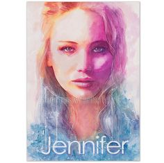 Jennifer - LIMITED PRINT- only 25 pieces worldwide! HANDSIGNED fine art from watercolor (Lawrence, Katniss, Hunger Games, Tribute von Panem)