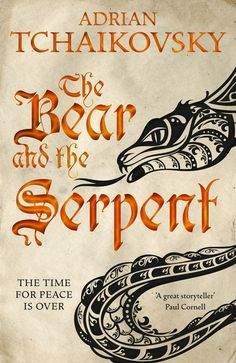 Fantasy books to read if you love Game of Thrones, including The Bear and the Serpent by Adrian Tchaikovsky. Fantasy Book Covers, Fantasy Books, Fantasy Series, Cool Books, New Books, Fiction Books To Read, I Love The World, Fallen Book, Order Book