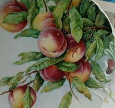 It is wonderful when a painter takes a photo of each stage of their painting and so here we have all the firings for Susan's plate! Fruit Painting, China Painting, Painting Tips, Painting Lessons, Tole Decorative Paintings, Fruit Picture, Beautiful Fruits, China Porcelain, Painted Porcelain