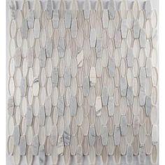 MS International Ellia Blanco 12 in. x 12 in. x 8 mm Glass Stone Mesh-Mounted Mosaic Tile (10 sq. ft. / case)-SGLSOB-ELBLA8MM - The Home Depot