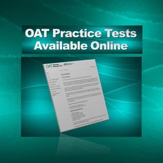 Newly available are OAT practice tests, electronic versions put out by the agency who administers the OAT. Southern California Colleges, Optometry School, The Agency, Wordpress