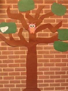 Start van de woordenboom: in deze boom worden alle losse woorden met plaatje gehangen die de kinderen zelf aandragen.