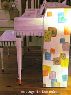painted piano before