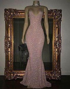 Custom Made Luscious Evening Dress Long Pink Sequin Mermaid Long Prom Dress, Sequin Evening Dress Cute Prom Dresses, Prom Outfits, Mermaid Prom Dresses, Mode Outfits, Ball Dresses, Homecoming Dresses, Elegant Dresses, Pink Dresses, Party Dresses