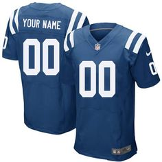 Nike Indianapolis Colts Customized Royal Blue Stitched Elite Men s NFL  Jersey Indianapolis Colts 742466b27