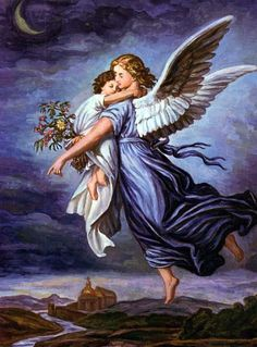 Global Gallery 'The Guardian Angel' by Wilhelm Von Kaulbach Painting Print on Wrapped Canvas Size: Madonna, Funeral Thank You Cards, I Believe In Angels, My Guardian Angel, Angel Pictures, Free Pictures, Angels Among Us, Angels In Heaven, Stock Art