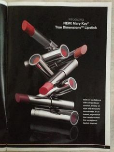 NEW! True Dimensions Lipstick!  In 10 gorgeous shades.  Lipstick with collagen-enhancing & age-defying ingredients will make your lips appear fuller & feel firmer too! www.marykay.com/lheff