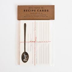 Recipe cards by Rifle Paper Co