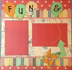Fun & Games - 12x12 Premade 2 Page Scrapbook Layout