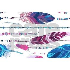 Tribal Feathers Laptop Skins on CafePress.com