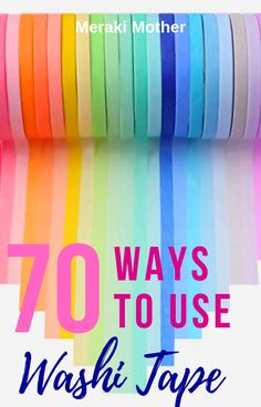 70+ uses for Washi Tape around your home to personalize décor and DIY furniture for a unique look to your home. #decor #washitape #furniture #homedecor #diy #homediy