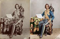 Raden Saleh Syarif Bustaman (1872). Dilahirkan sekitar 1811 di Terboyo (Semarang), wafat pada 23 Maret 1880 di Bogor. fotografer: Woodbury Colection: Pretentkabinet Universiteit Leiden.  Source: http://www.wowshack.com/a-rare-historical-look-at-old-indones
