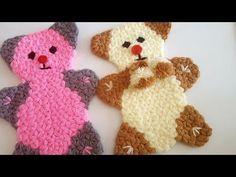 Eldiven lif yapımı - YouTube Crochet Flower Patterns, Baby Knitting Patterns, Crochet Flowers, Crochet Bear, Free Crochet, Knit Baby Dress, Crochet Accessories, Baby Booties, Hello Kitty