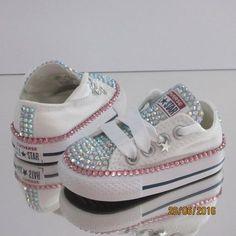 7d3f90f6b89784 Custom cristal completo lengua Bling Converse infantiles Bling Baby Shoes