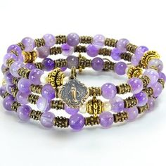Amethyst Rosary Wrap Bracelet | The Catholic Company $64