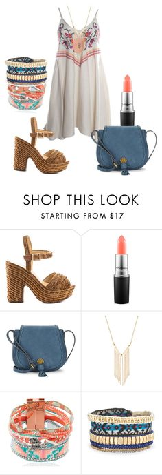 """""""May"""" by melromo ❤ liked on Polyvore featuring Judith March, Schutz, MAC Cosmetics, Nanette Lepore, Gemelli, Hipanema and Stella & Dot"""