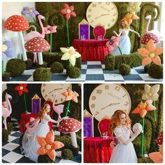 Фотопроект Алиса Гигантские цветы мох декор