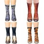 Animal Paw Feet Socks Funny Crazy Cool Novelty Cute Fun Funky Colorful Collection - Tiger Fox Eagle and Foot Socks, Ankle Socks, Fashion Socks, New Fashion, Sock Animals, Animals Dog, Cheap Socks, Socks For Sale, Womens Health Magazine