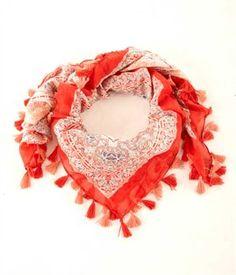 Foulard, etole imprimee, cheche femme, foulard a pompons - Mode femme  Camaieu 3925fd7bda52