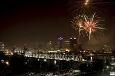 Fireworks over the Junction Bridge City: North Little Rock Riverfest 2008 marked the official unveiling of Junction Bridge, the 2nd Pedestrian bridge to join North Little Rock and Little Rock.