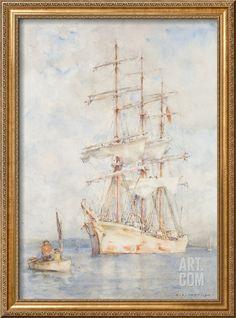 The White Ship, 1915 Giclee Print by Henry Scott Tuke at Art.com
