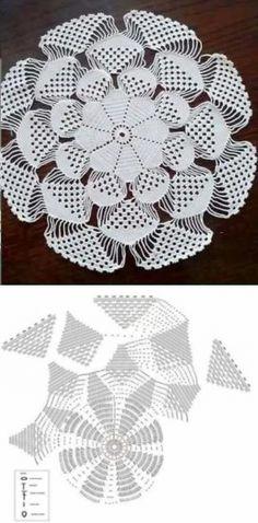 Home Decor Crochet Patterns Part 150 - Beautiful Crochet Patterns and Knitting Patterns Crochet Dollies, Crochet Doily Patterns, Crochet Mandala, Crochet Diagram, Crochet Art, Crochet Home, Thread Crochet, Crochet Motif, Crochet Designs