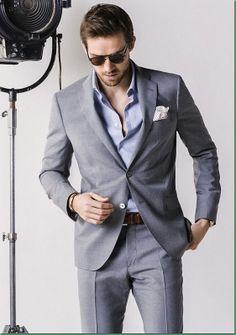 2017 Latest Coat Pant Designs Light Grey Custom Formal Wedding Suits For Men Slim Fit Groom Groomsman Beach 2 Pieces Terno 554 Gentleman Mode, Gentleman Style, Sharp Dressed Man, Well Dressed Men, Mens Fashion Suits, Mens Suits, Fashion Mode, Fashion Outfits, Style Fashion