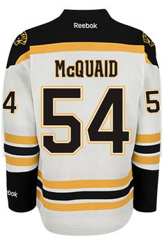 ef5862fc4 Boston Bruins Adam MCQUAID  54 Official Away Reebok Premier Replica NHL  Hockey Jersey (HAND