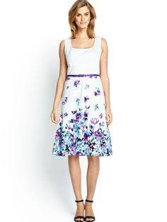 Savoir Sateen Day Dress | littlewoods.com
