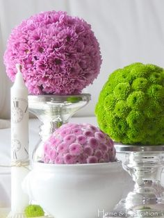 Flower Balls (in white)