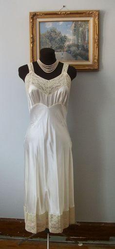 1486b7d50aa Vintage 1940 s Rayon Nightgown Dress Heavenly Lingerie Fischer Old  Hollywood  HeavenlyLingerieByFischer Lingerie Dress