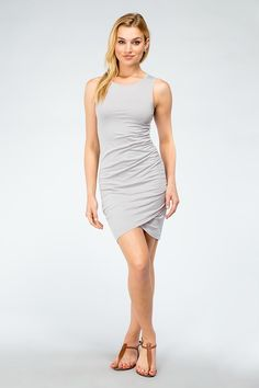 Side Ruched Dress by Bobi Los Angles